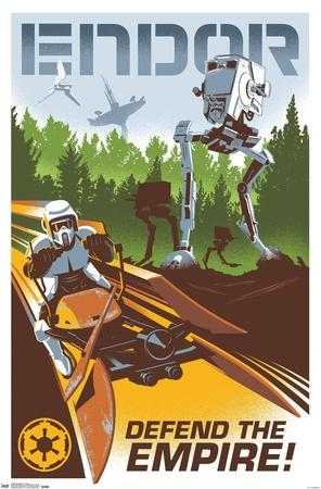 24X36 Star Wars: The Return of the Jedi - Endor