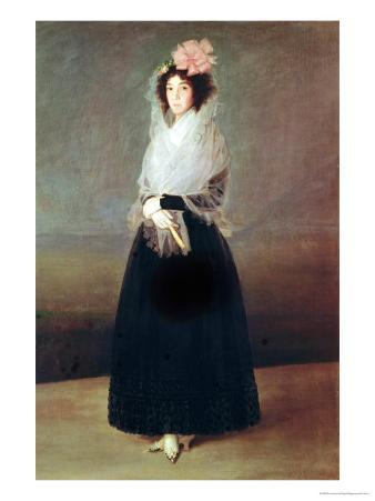 Portrait of the Countess of Carpio (1757-95) Marquesa De La Solana, circa 1793