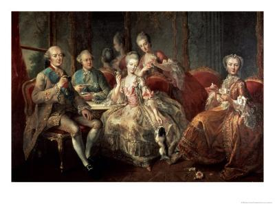 The Penthievre Family or the Cup of Chocolate, 1768