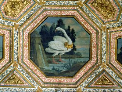 Detail of the Ceiling Decoration in the Salon of the Swans, 15th Century