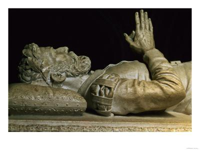 Detail from the Tomb of the Poet Luiz Vaz De Camoens (circa 1524-80) (Stone Carving)