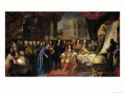 Jean-Baptiste Colbert (1619-1683) Presenting the Members of the Royal Academy of Science