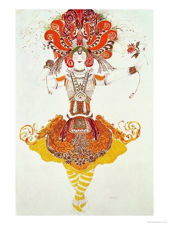 "Ballet Costume for ""The Firebird,"" by Stravinsky"