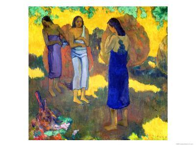 Three Tahitian Women Against a Yellow Background, 1899