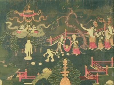 The Life of Buddha Shakyamuni, Detail of His Childhood, Tibetan, 18th Century