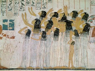 Weeping Women in a Funeral Procession, from the Tomb-Chapel of Ramose Vizier and Governor of Thebes