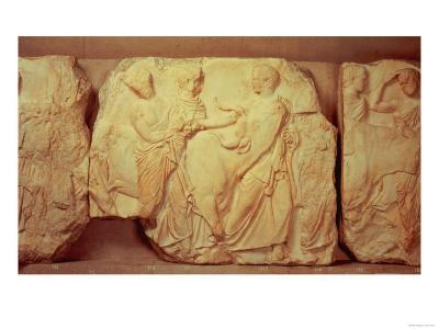 Heifers Led to Sacrifice, from the South Frieze of the Parthenon, 447-432 BC
