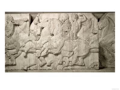 Horsemen with Attendants, from the West Frieze of the Parthenon, 447-432 BC