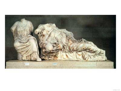 Three Seated Figures from the East Pediment of the Parthenon, Possibly Hestia