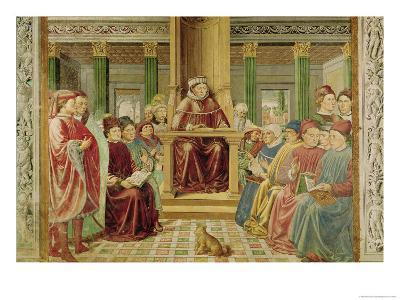 St. Augustine Reading Rhetoric and Philosophy at the School of Rome