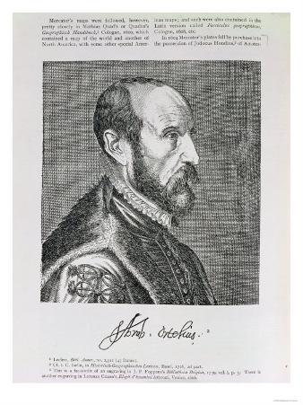 Abraham Ortelius (1527-98) Illustration Fr. Volume IV of Narrative and Critical History of America