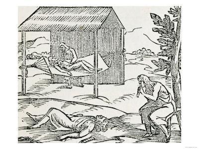"Curing the Sick, Natives of Hispaniola, from ""The Narrative and Critical History of America"""