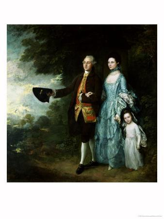 Mr. and Mrs. George Byam and Their Eldest Daughter, Selina, circa 1764