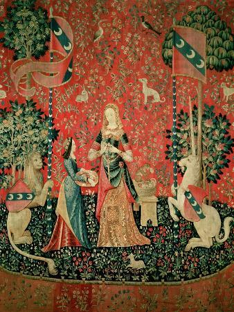 """The Lady and the Unicorn: """"Smell,"""" circa 1500"""
