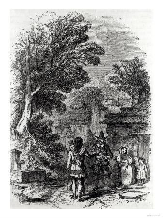 "Samoset, the Indian Visitor, from ""Harper's Monthly,"" 1857"