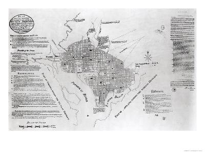 "Plan of Washington D.circa, Pub. in ""Gazette of the United States,"" Philadelphia, January 4th 1792"