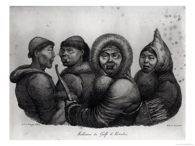 "Inhabitants of the Gulf of Kotzebue, from ""Voyage Pittoresque Autour Du Monde,"" by Langlume"