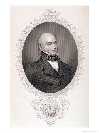 """John Quincy Adams (1767-1848) from """"The History of the United States,"""" Vol. II, by Charles Mackay"""