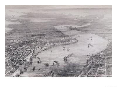 "Bird's-Eye View of New Orleans, from ""The History of the United States,"" Vol. II, by Charles Mackay"