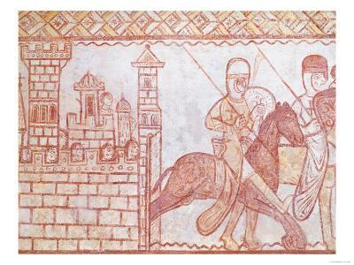 Departure of the Crusaders for the Battle of Boquee in Syria (Wall Painting)