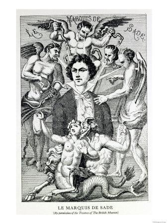 Portrait of the Marquis De Sade Surrounded by Devils