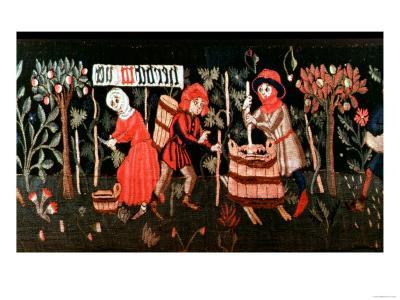 Tapestry: the Labours of the Months, Alsatian, Mid 15th Century