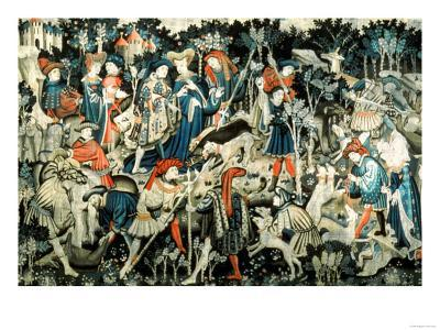 The Devonshire Hunting Tapestries, Boar and Bear Hunt, Probably Arras, 1425-50