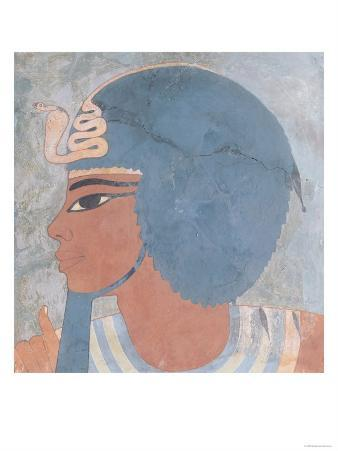 Head of Amenophis III from the Tomb of Onsou, 18th Dynasty, 1550-1295 BC (Mural)