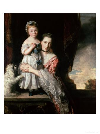 Georgiana, Countess Spencer with Lady Georgiana Spencer, 1759-61