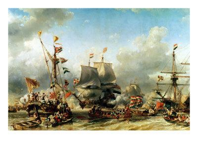 The Embarkation of the De Ruyter and the De Witt off Texel in 1667, 1850-51