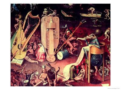 The Garden of Earthly Delights: Hell, Detail from the Right Wing of the Triptych, circa 1500