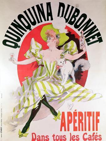 "Poster Advertising ""Quinquina Dubonnet"" Aperitif, 1895"