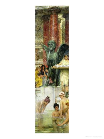 In the Roman Baths, or Roman Women in the Bath, 1876