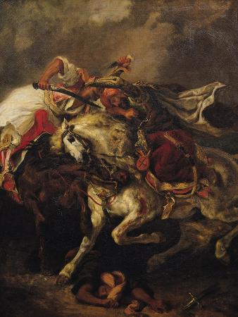 """The Battle of Giaour and Hassan, after Byron's Poem, """"Le Giaour,"""" 1835"""