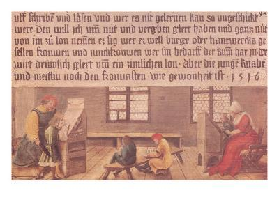 A School Teacher Explaining the Meaning of a Letter to Illiterate Workers, 1516