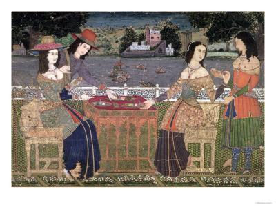 Portuguese Women Eating a Meal, Goa
