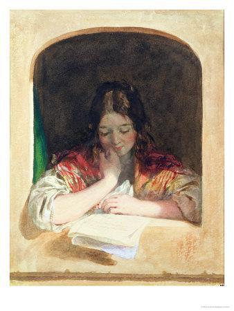 Girl Reading at a Window
