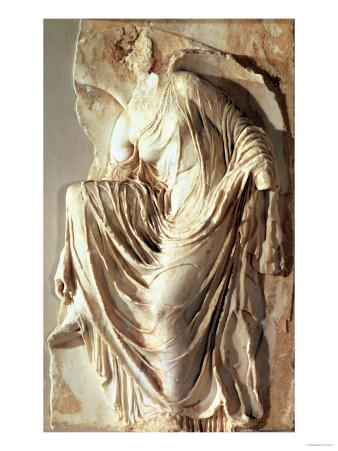 Athena Nike Adjusting Her Sandal, circa 420-420 BC