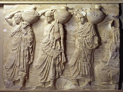 Relief Depicting Hydria Carriers from the North Frieze of the Parthenon, circa 447-432 BC