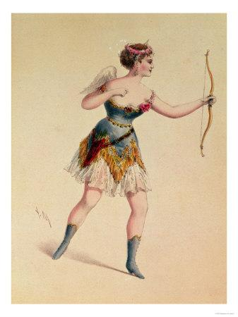 """Cora Pearl as Cupidon in Offenbach's """"Orpheus in the Underworld"""""""