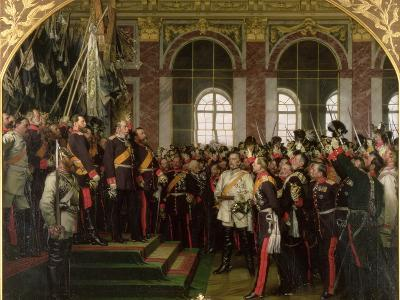 The Proclamation of Wilhelm as Kaiser of the New German Reich, in the Hall of Mirrors at Versailles