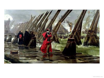 Richelieu (1585-1642) on the Sea Wall at La Rochelle, 1881