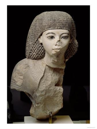 Bust of the Royal Scribe, Meniou, New Kingdom, circa 1391-53 BC (Limestone)