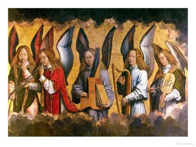 Angels Playing Musical Instruments, Right Hand Panel from a Triptych