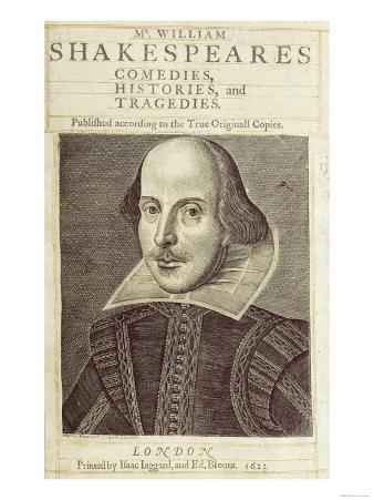 """Titlepage of """"Mr. William Shakespeares Comedies, Histories and Tragedies"""""""