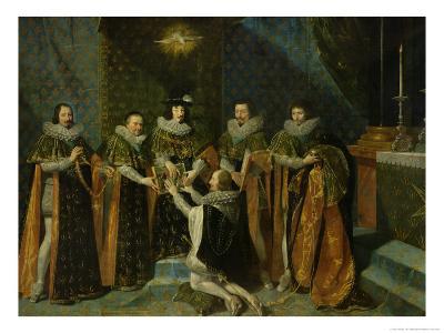 Louis XIII (1601-43) Receiving Henri D'Orleans (1595-1663) Duc De Longueville