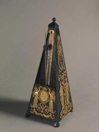 Pyramidal Metronome, 1815 (Painted Iron & Gilt Bronze)