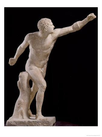 The Borghese Gladiator, after Lysippos (Fl.370-310 BC) circa 100 BC