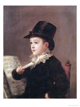Portrait of Mariano Goya (1806-74) 1815-17