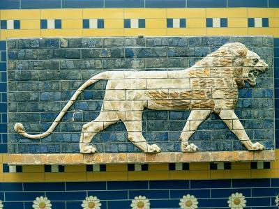 Lion Representing Ishtar, from Babylon, 625-539 BC (Enamelled Bricks)